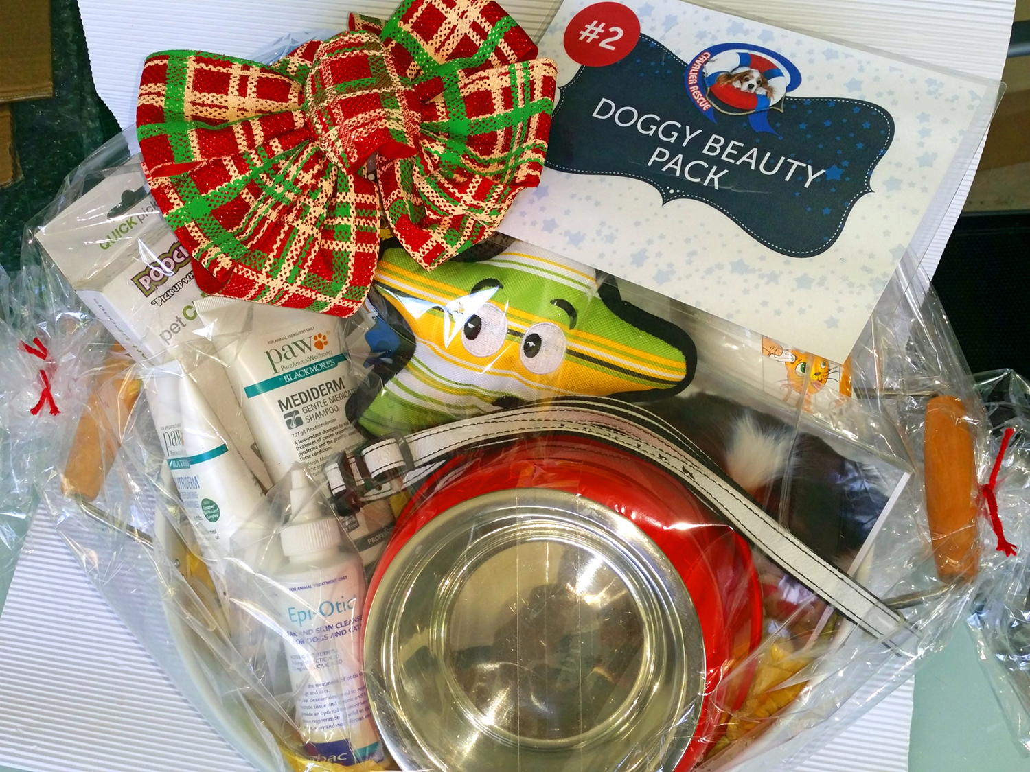 Cavalier Rescue Qld - Christmas Raffle 2016 - Doggy Beauty Prize Pack