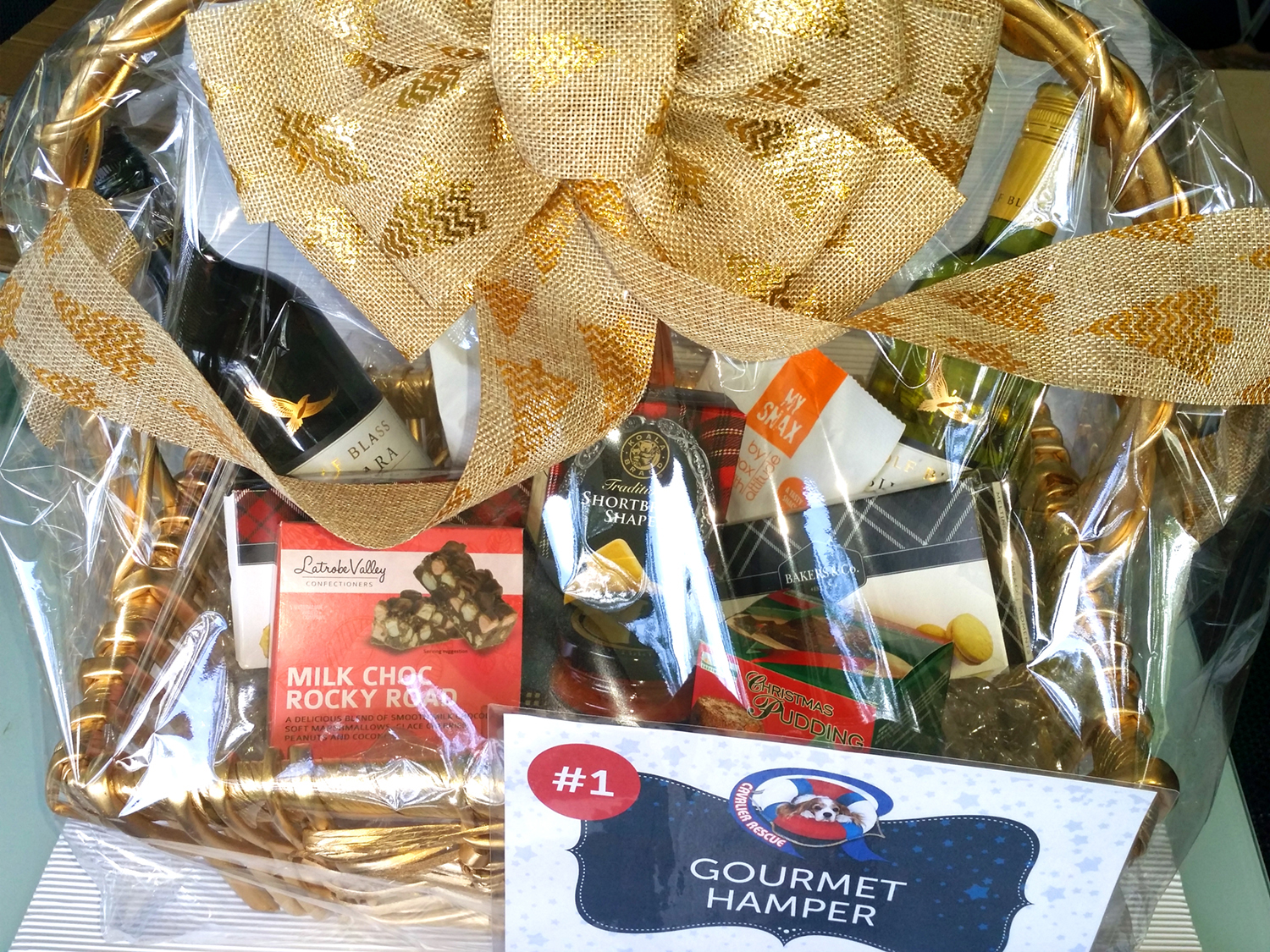 Cavalier Rescue Qld - Christmas Raffle 2016 - Gourmet Hamper Prize Pack