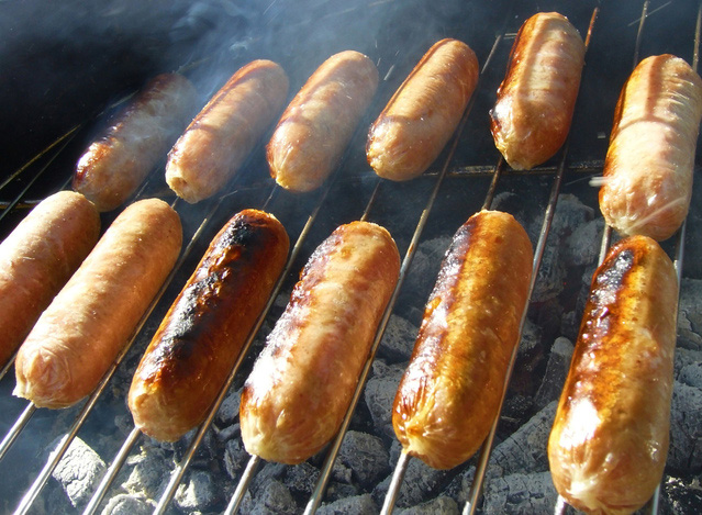 Fundraising Sausage Sizzle at Bunnings Burleigh Waters on 26 June 2016 for Cavalier Rescue Qld